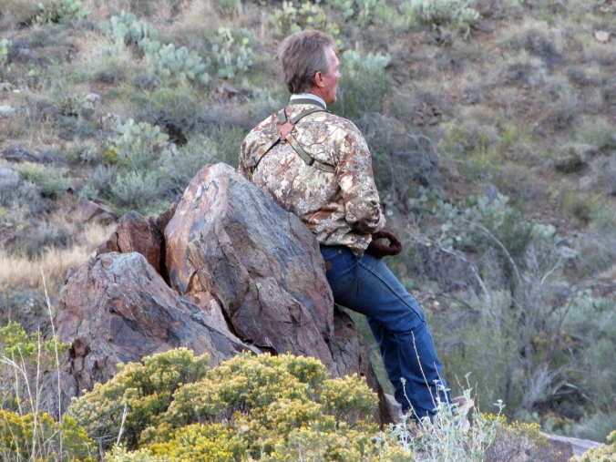 Deer Hunt Glassing in Canyon