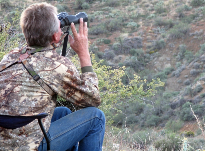 Deer Hunt--Glassing the Mountain Range
